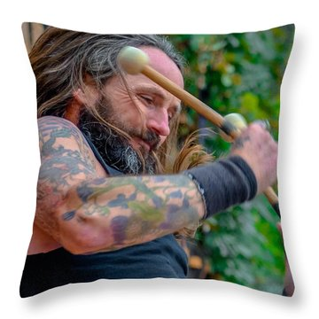 Throw Pillow featuring the photograph Bass Drum by Brian Stevens