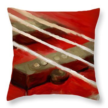 Bass Guitar Throw Pillow by Jeff Montgomery