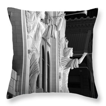 Bass Hall Fort Worth 520 Bw Throw Pillow