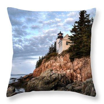 Bass Harbor Light No. 1 - Maine - Acadia Throw Pillow