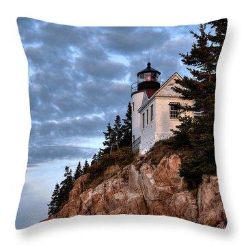 Bass Harbor Light No. 2 - Acadia - Maine Throw Pillow