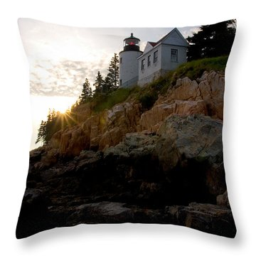 Bass Harbor Lighthouse 1 Throw Pillow