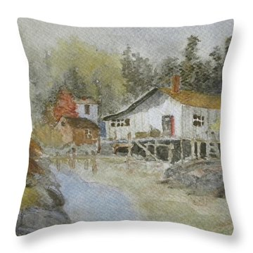 Bass Harbor Retreat Throw Pillow