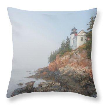 Bass Harbor Sunrise A Throw Pillow