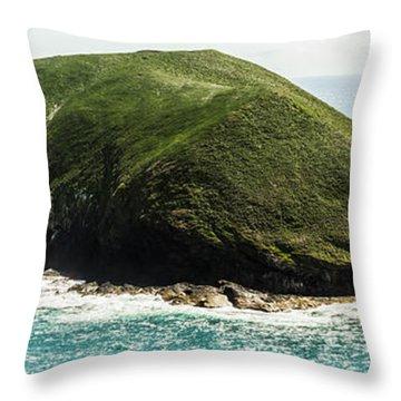 Bass Strait Island Wilderness Throw Pillow