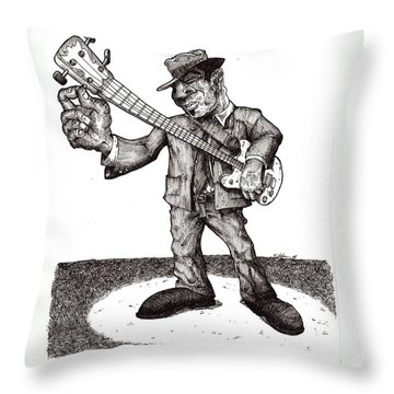 Bass Throw Pillow by Tobey Anderson