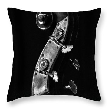 Bass Violin Throw Pillow