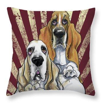 Basset Hound Revolution Throw Pillow