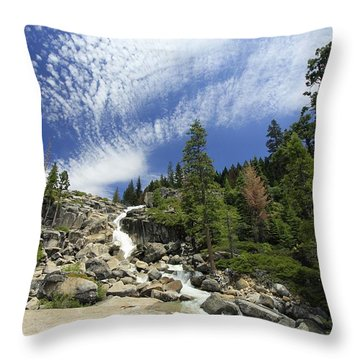 Throw Pillow featuring the photograph Bassi Flow by Sean Sarsfield