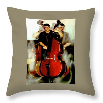 Bassman Throw Pillow by Sadie Reneau