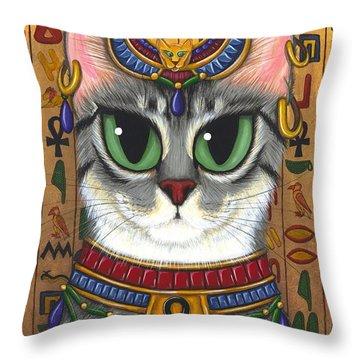 Bast Goddess - Egyptian Bastet Throw Pillow