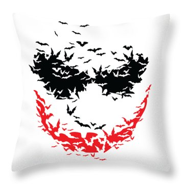 Bat Face Throw Pillow