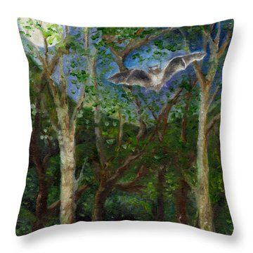 Bat Medicine Throw Pillow