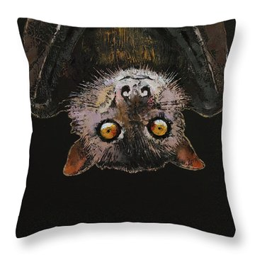 Bat Throw Pillow by Michael Creese