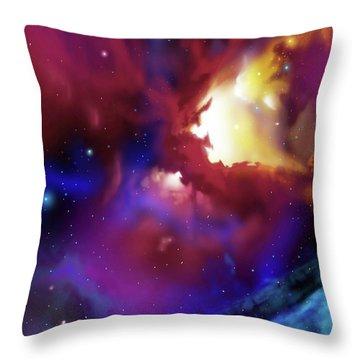 Bat Nebula Throw Pillow