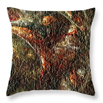 Throw Pillow featuring the digital art Bat Out Of Hell by Charmaine Zoe