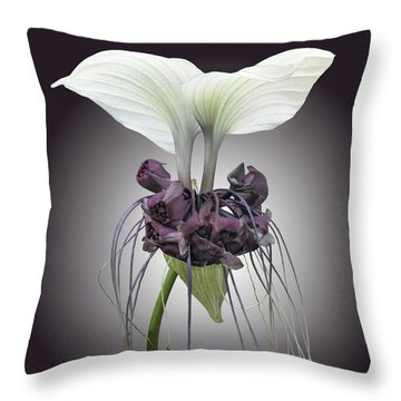Bat Plant Throw Pillow