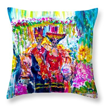 Batak Weding Throw Pillow