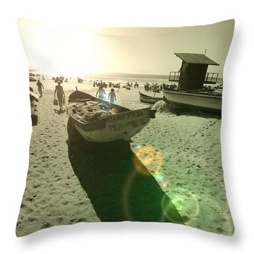 Throw Pillow featuring the photograph Batboat by Beto Machado