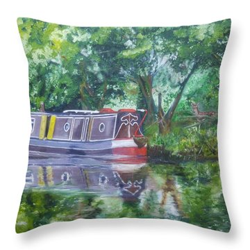 Bateau Sur Riviere Throw Pillow