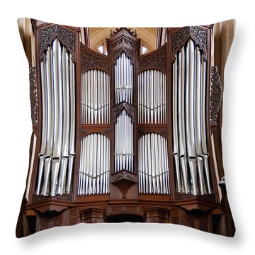 Bath Abbey Organ Throw Pillow