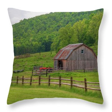 Throw Pillow featuring the photograph Bath Barn 0428a by Guy Whiteley