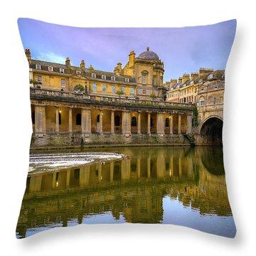 Bath Market Throw Pillow