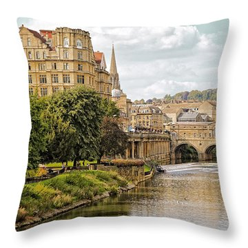 Bath-on-avon 2 By Mike Hope Throw Pillow