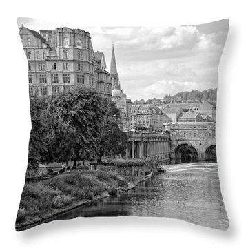 Bath On Avon By Mike Hope Throw Pillow