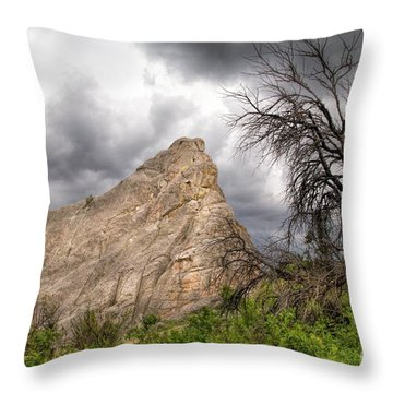 Bath Rock Portrait  Throw Pillow