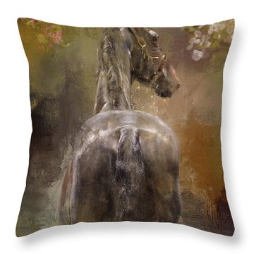 Bath Time Throw Pillow by Kathy Russell