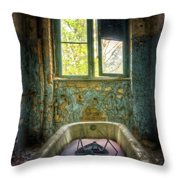 Bath Toy Throw Pillow by Nathan Wright