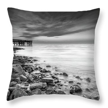 Throw Pillow featuring the photograph Bathe In The Winter Sun by Edward Kreis