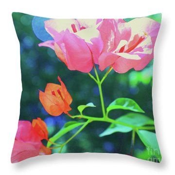 Throw Pillow featuring the photograph Bathed In Sunlight by Diane Miller