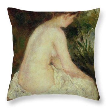Bather Throw Pillow by Pierre Auguste Renoir