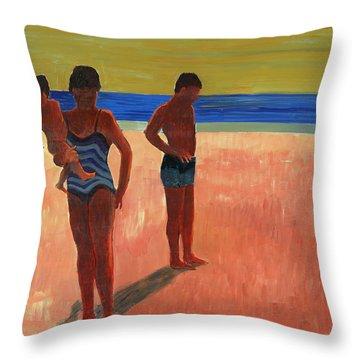 Bathers 88 Throw Pillow