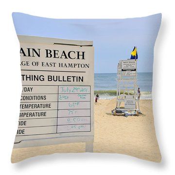 Bathing Bulletin Throw Pillow