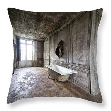 Bathroom Decay - Urban Exploration Throw Pillow