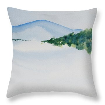 Bathurst Harbour Reflections Throw Pillow