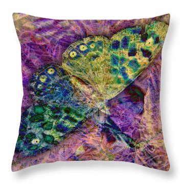 Batik Butterfly Throw Pillow