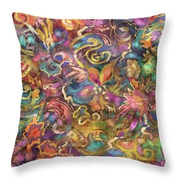 Batik Colorburst Throw Pillow