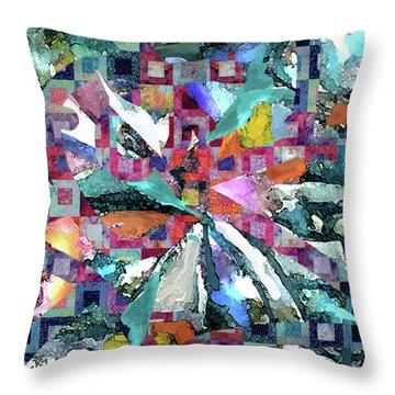 Batik Overlay Throw Pillow
