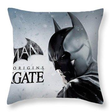 Batman Arkham Origins Blackgate Throw Pillow