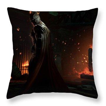 Batman Arkham Origins Throw Pillow