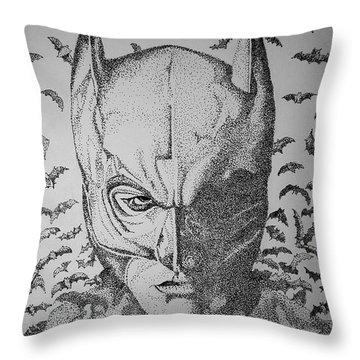 Batman Flight Throw Pillow