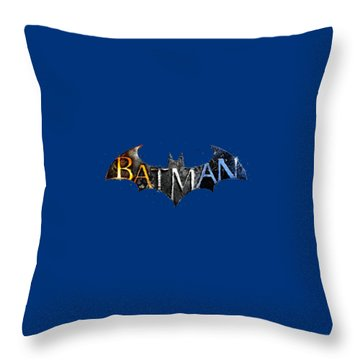 Batman  Throw Pillow by Herb Strobino