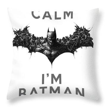 Batman Keep Calm Throw Pillow