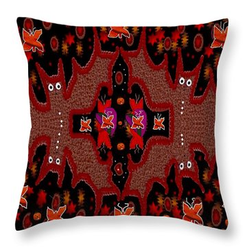 Bats In The Dark Throw Pillow by Pepita Selles