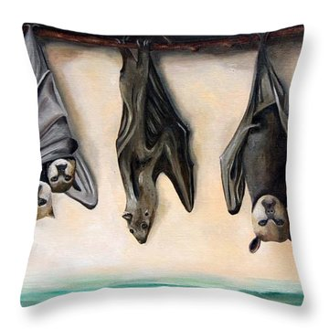 Bats Throw Pillow by Leah Saulnier The Painting Maniac