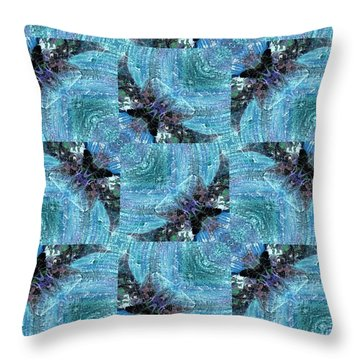 Bats Throw Pillow by Maria Watt